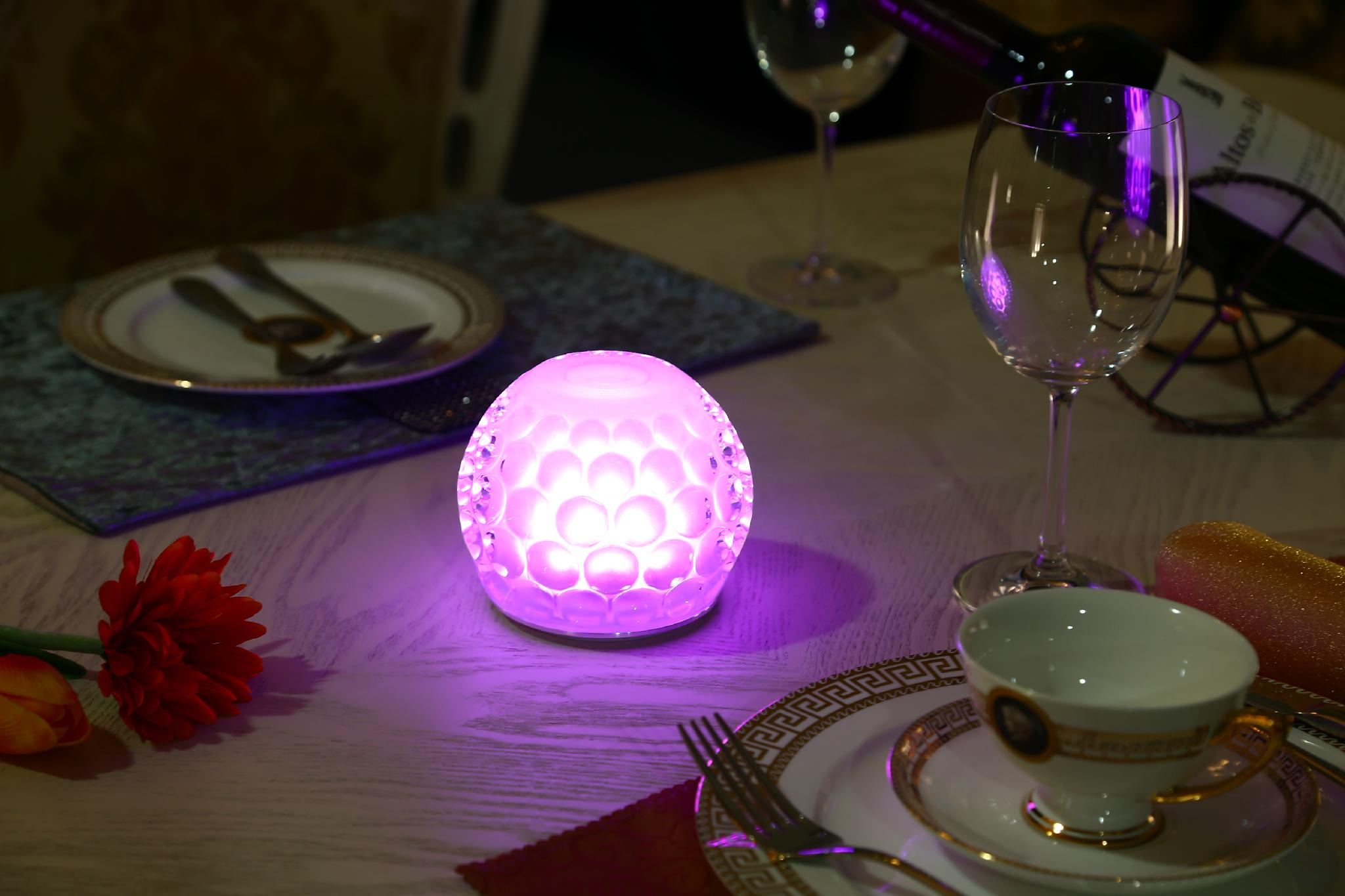 Wireless Rechargeable Battery Operated Restaurant Hotel Led Dining - Led table lights for restaurants
