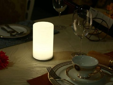 Rechargeable Battery Powered Durable Restaurant Outdoor Table Lamp